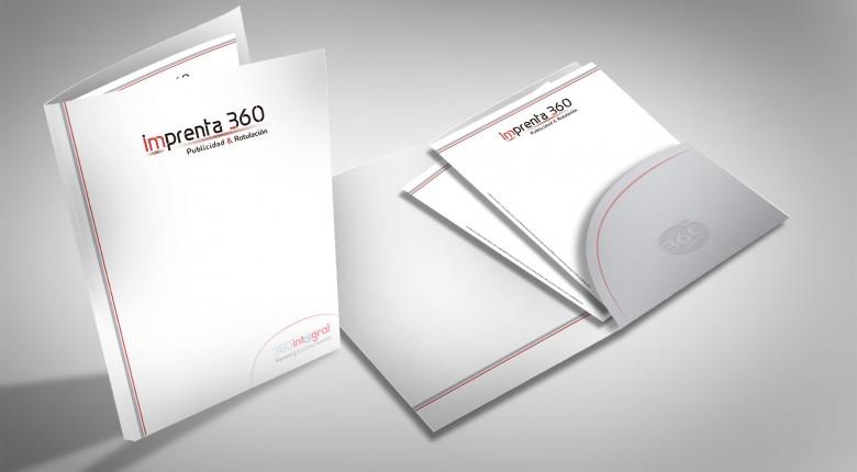 Carpetas corporativas - Imprenta 360