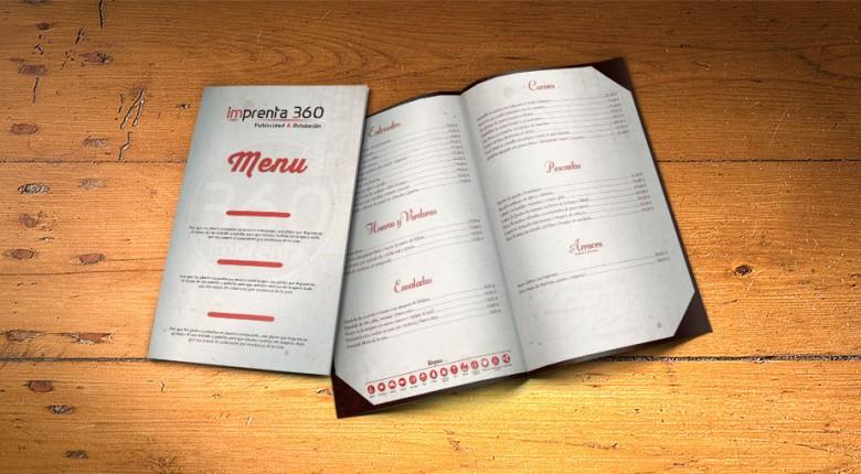 Cartas de Menú - Imprenta 360