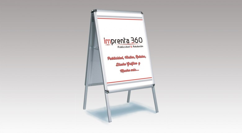 Expositores-(caballete) - Imprenta 360