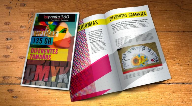 Dípticos - Imprenta 360